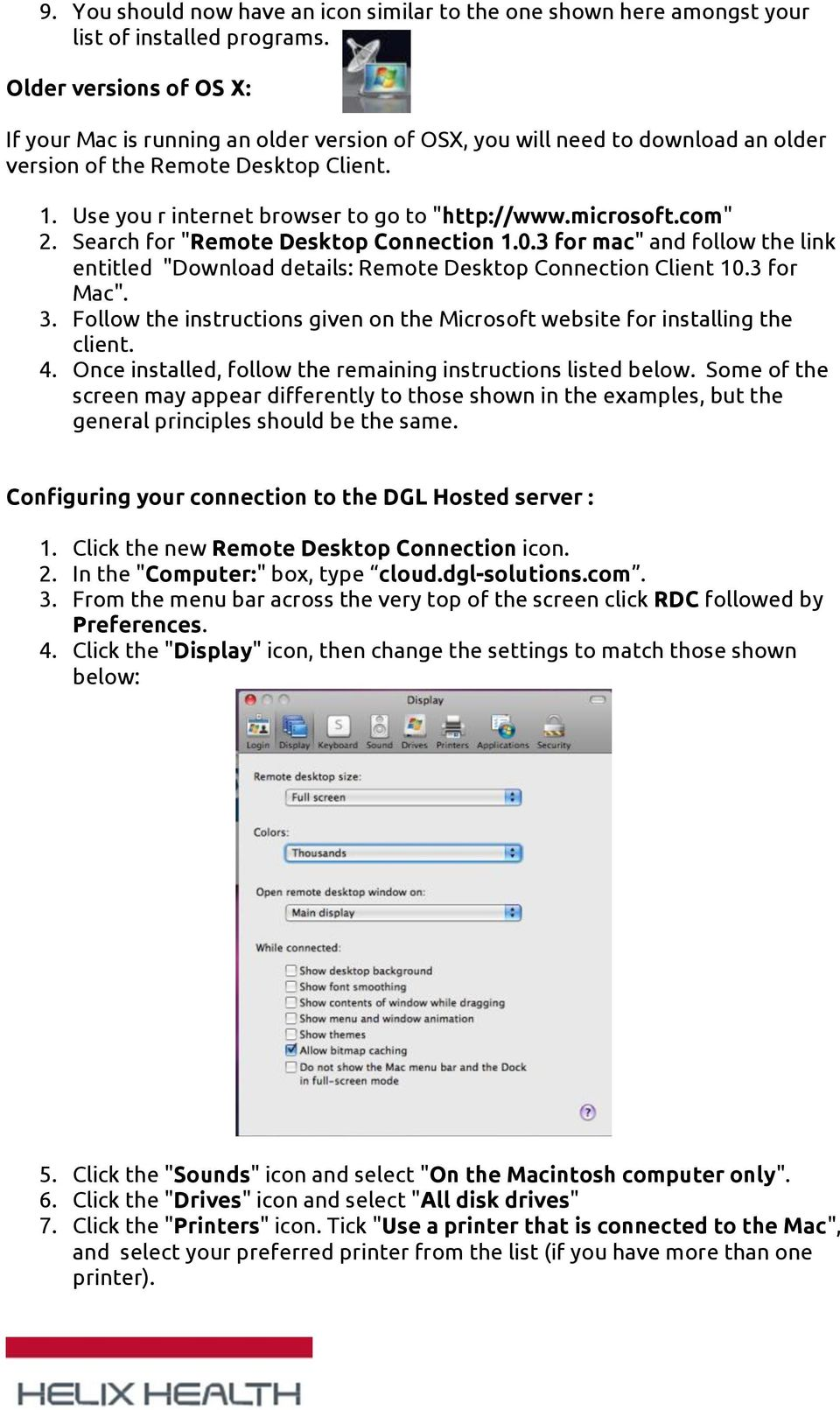 How to connect to the DGL Practice Manager Cloud Server from