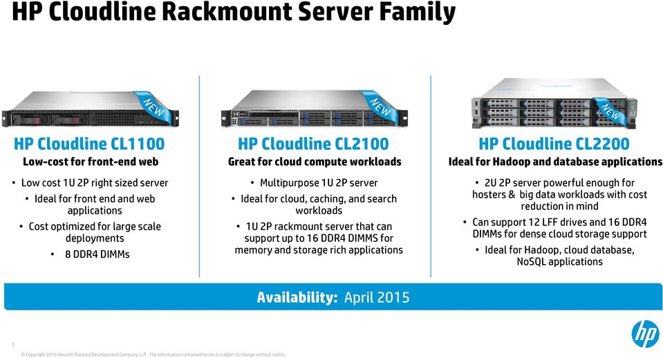 caching, and search workloads 1U 2P rackmount server that can support up to 16 DDR4 DIMMS for memory and storage rich applications 2U 2P server powerful enough for hosters & big data