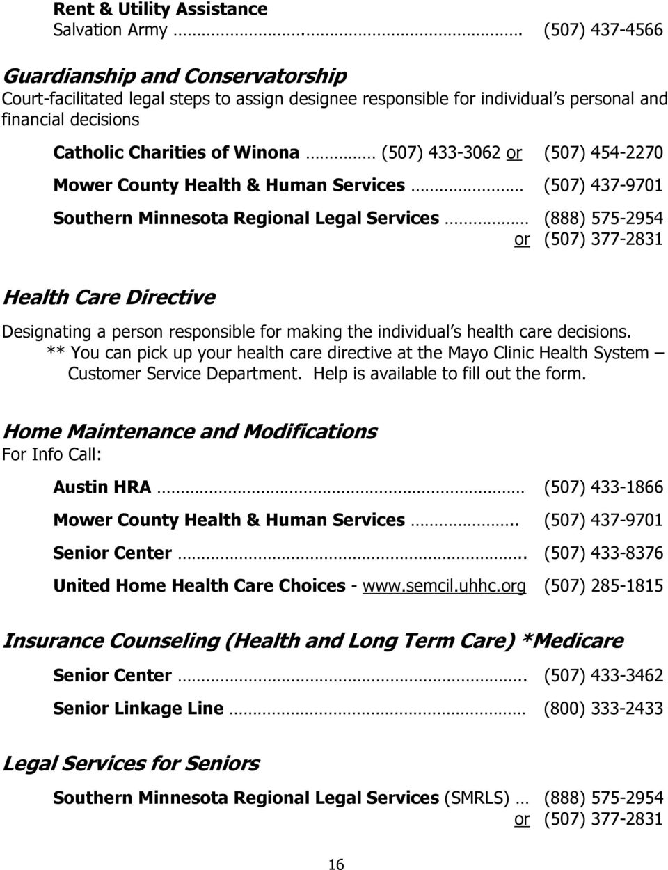mower county health and human services