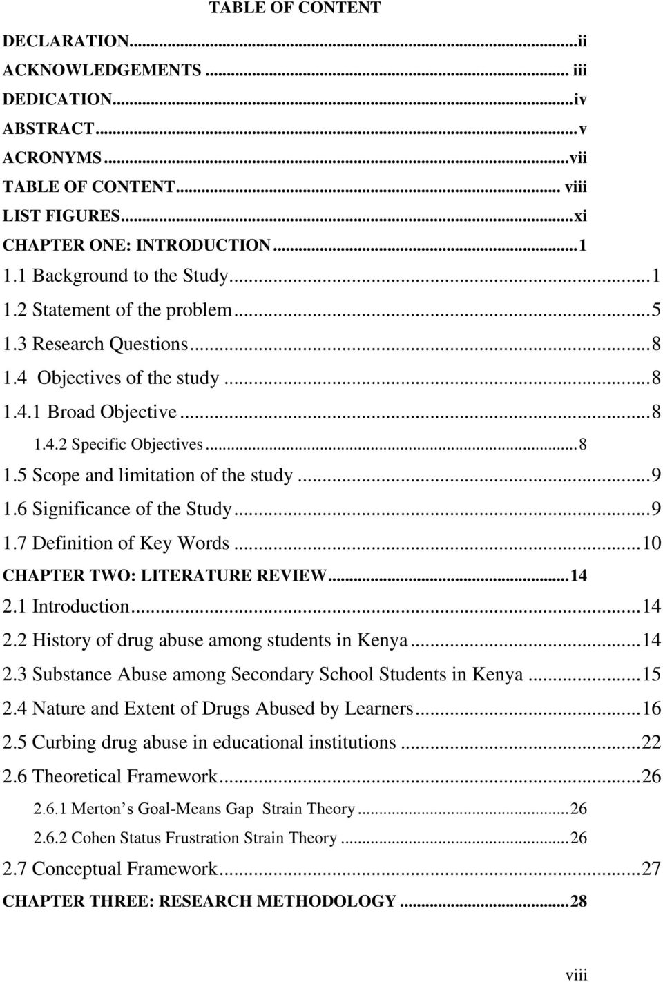 drug and substance abuse among secondary school students, in