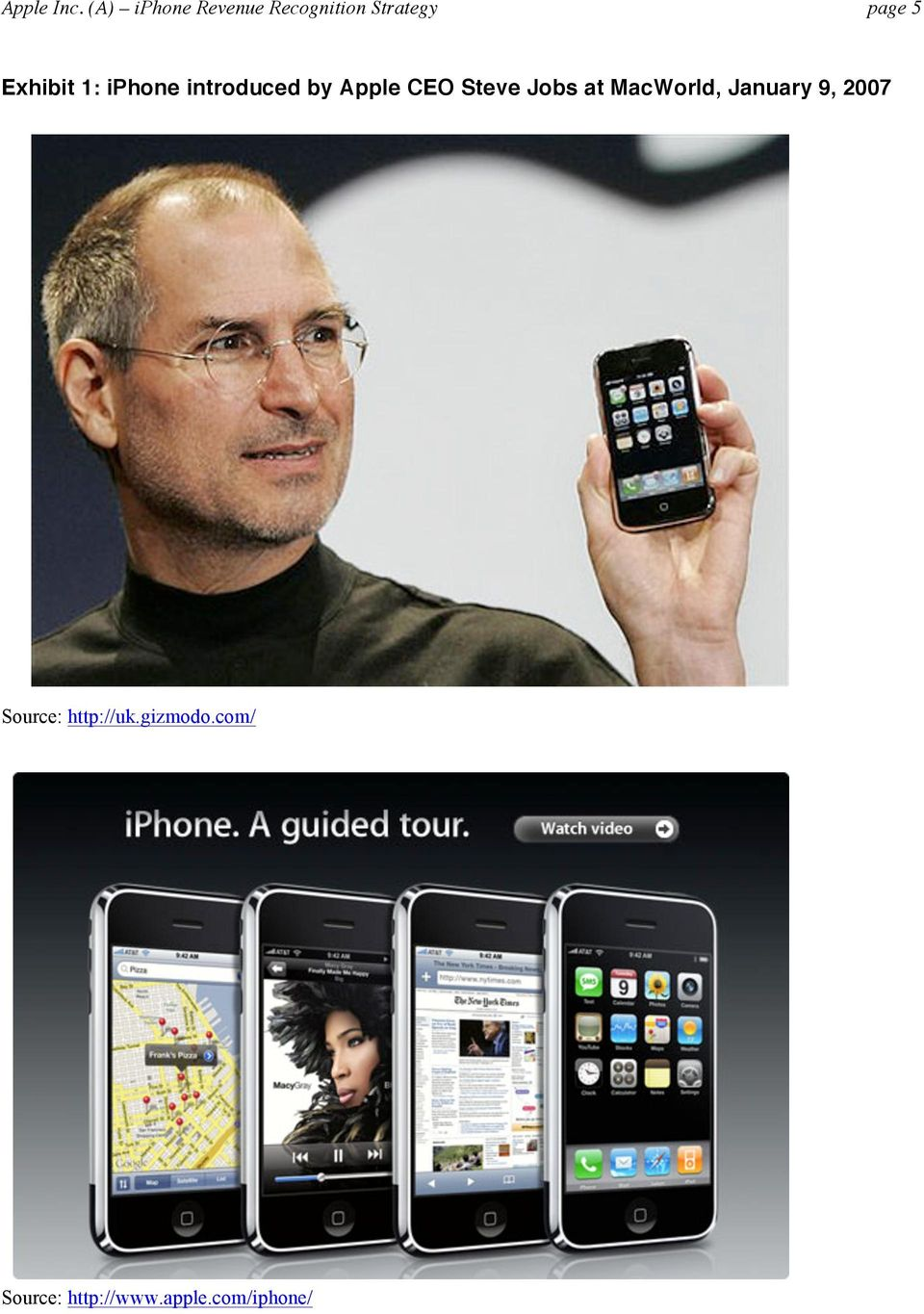 Exhibit 1: iphone introduced by Apple CEO Steve