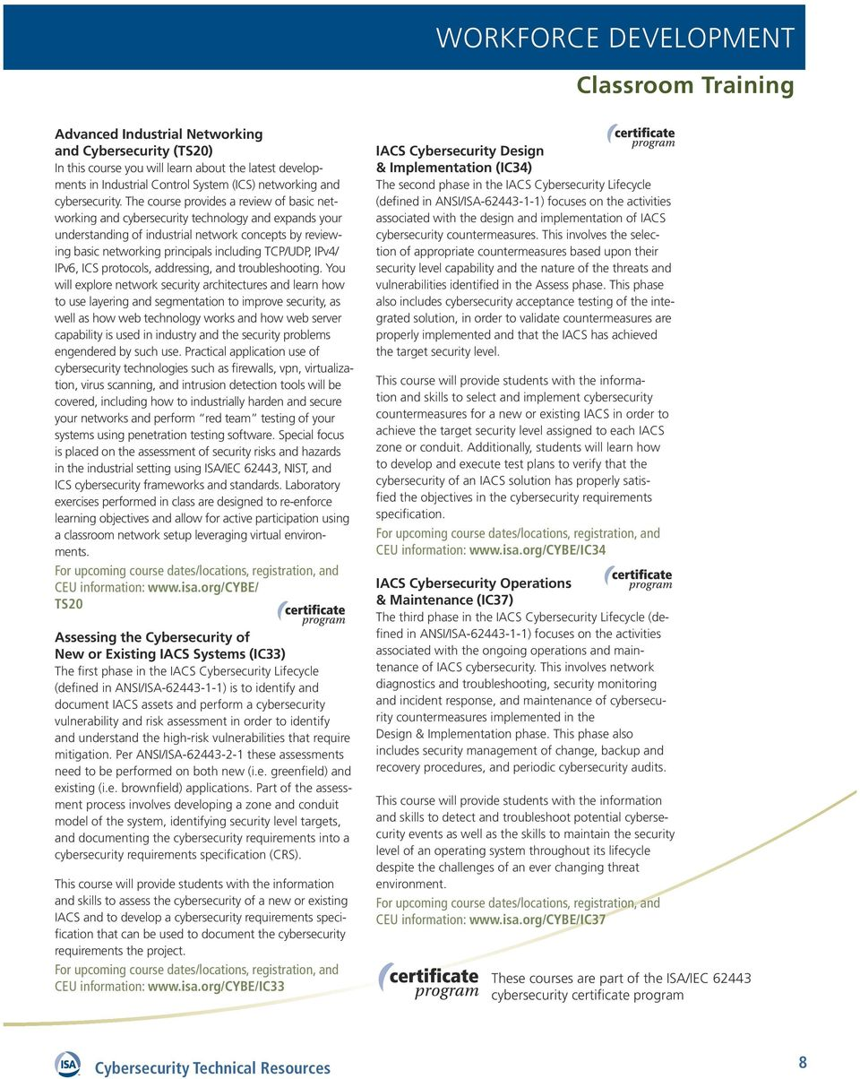 Industrial Cybersecurity Technical Resources - PDF