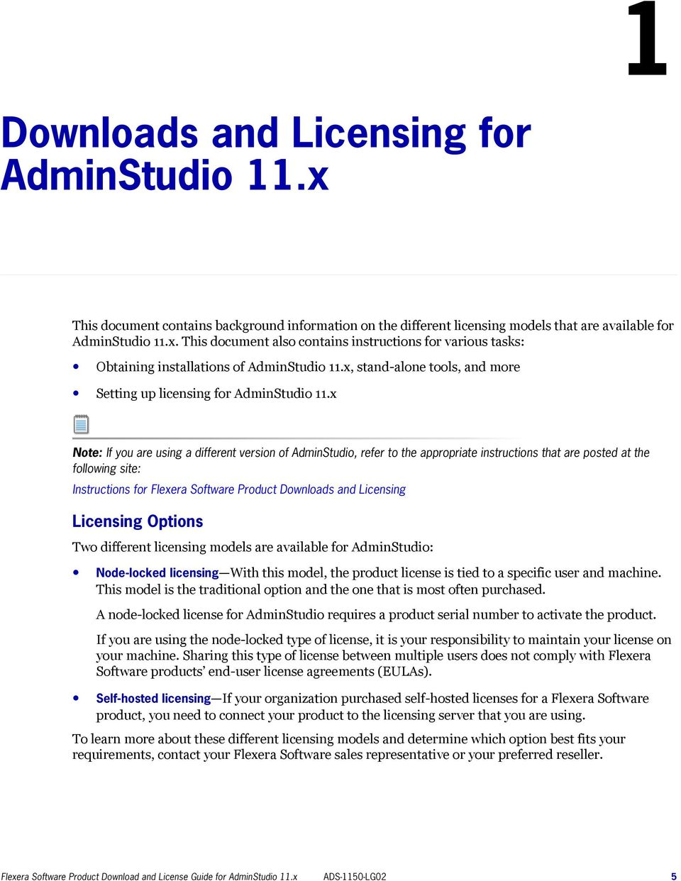 Flexera Software Product Download and License Guide for AdminStudio