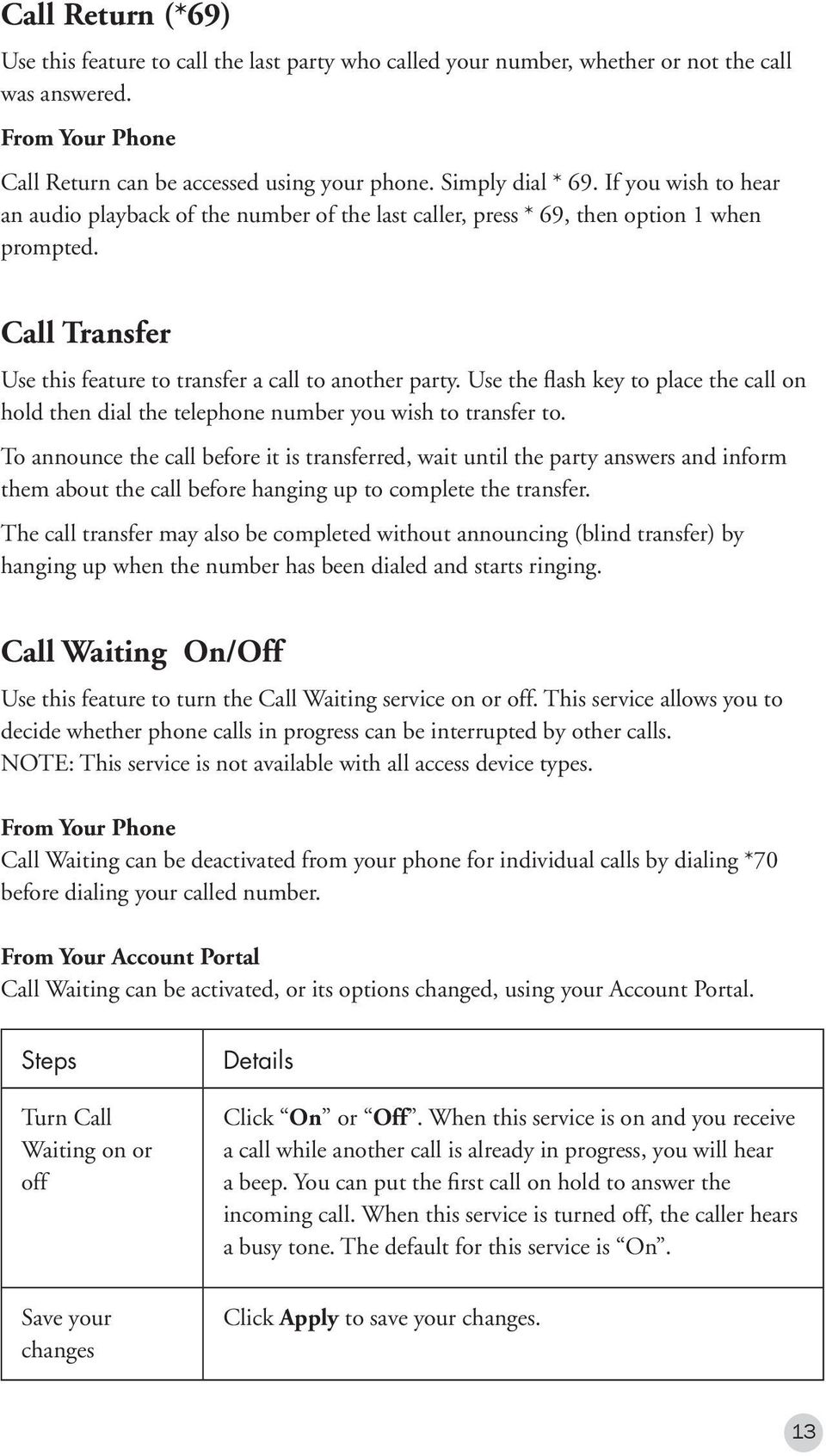 Use the flash key to place the call on hold then dial the telephone number you wish to transfer to.
