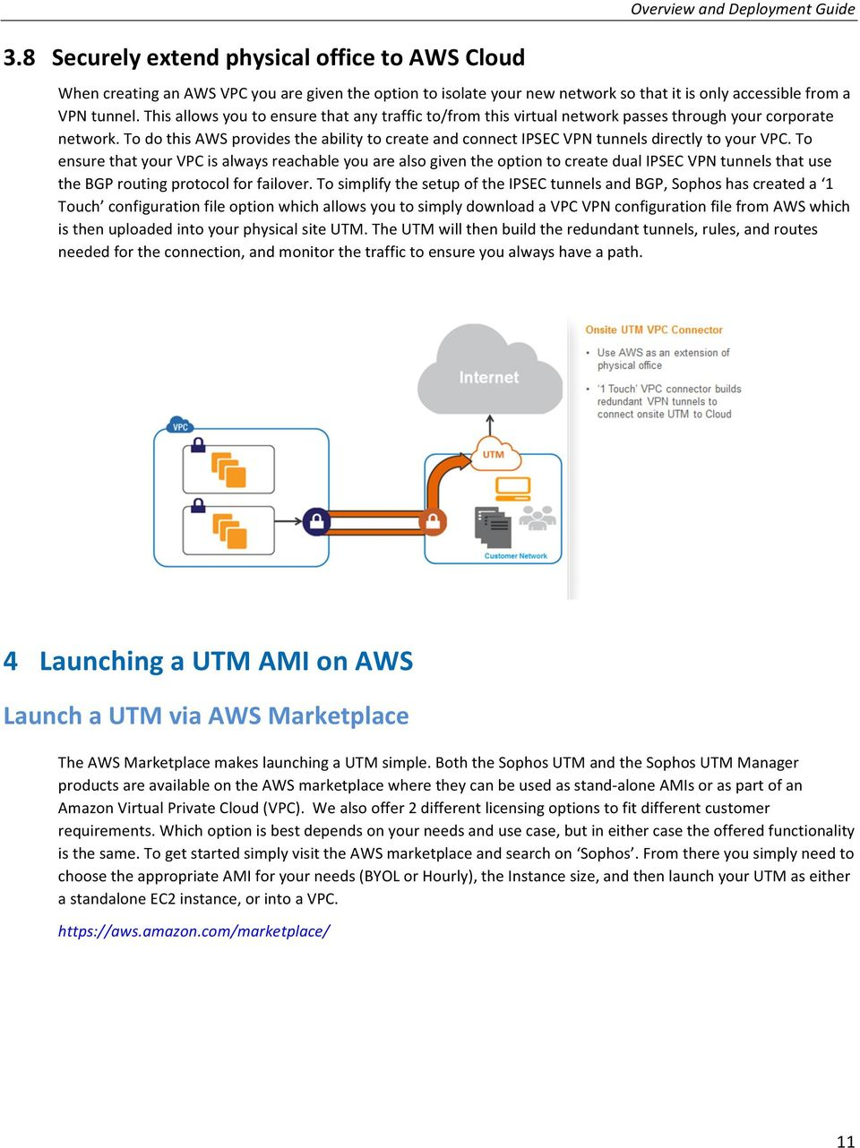 Overview and Deployment Guide  Sophos UTM on AWS - PDF