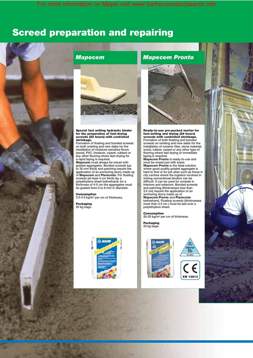 For more information on Mapei visit - PDF