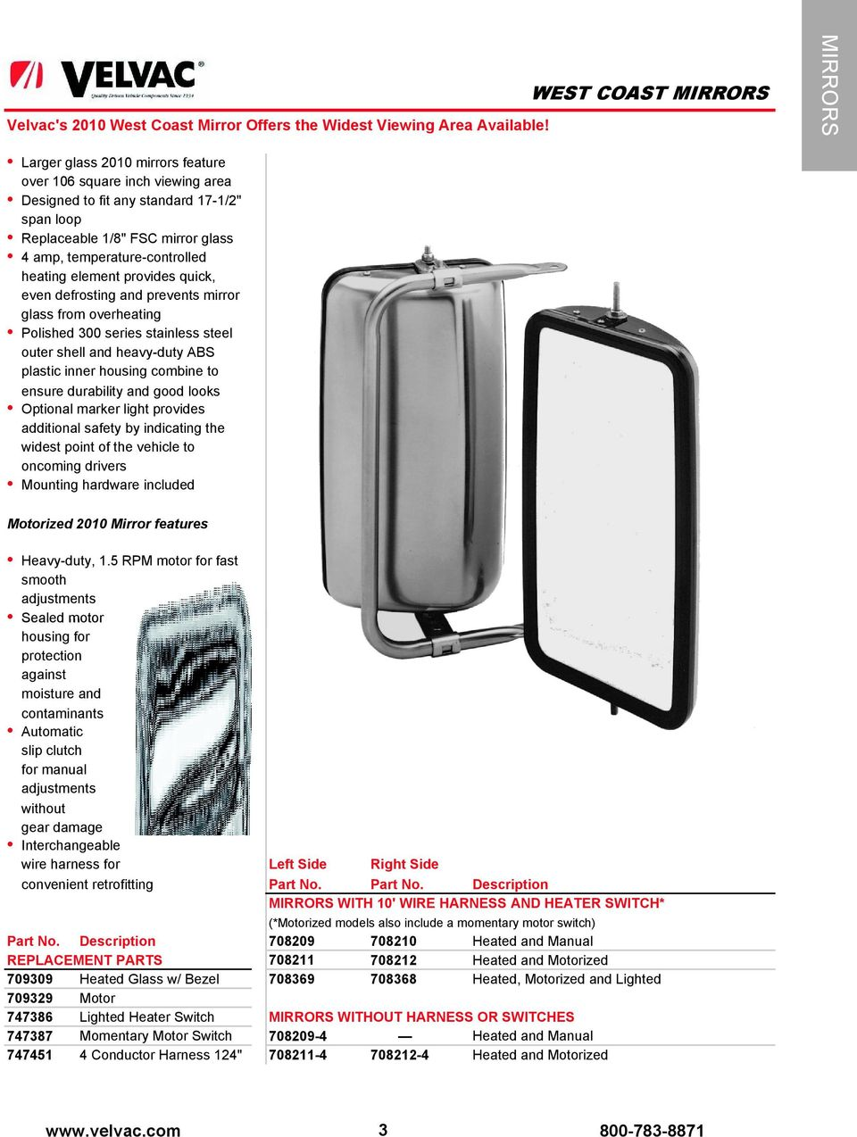 the passing lane since 1934 product catalog product catalog velvac rv mirrors velvac mirror wiring diagram heated