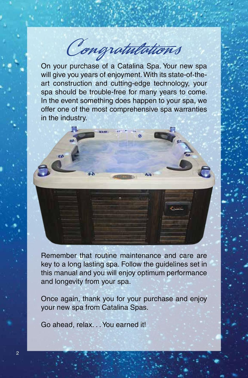 the most popular line of spas in the world pdf rh docplayer net Catalina Hot Tub Owner's Manual Catalina Spa Parts