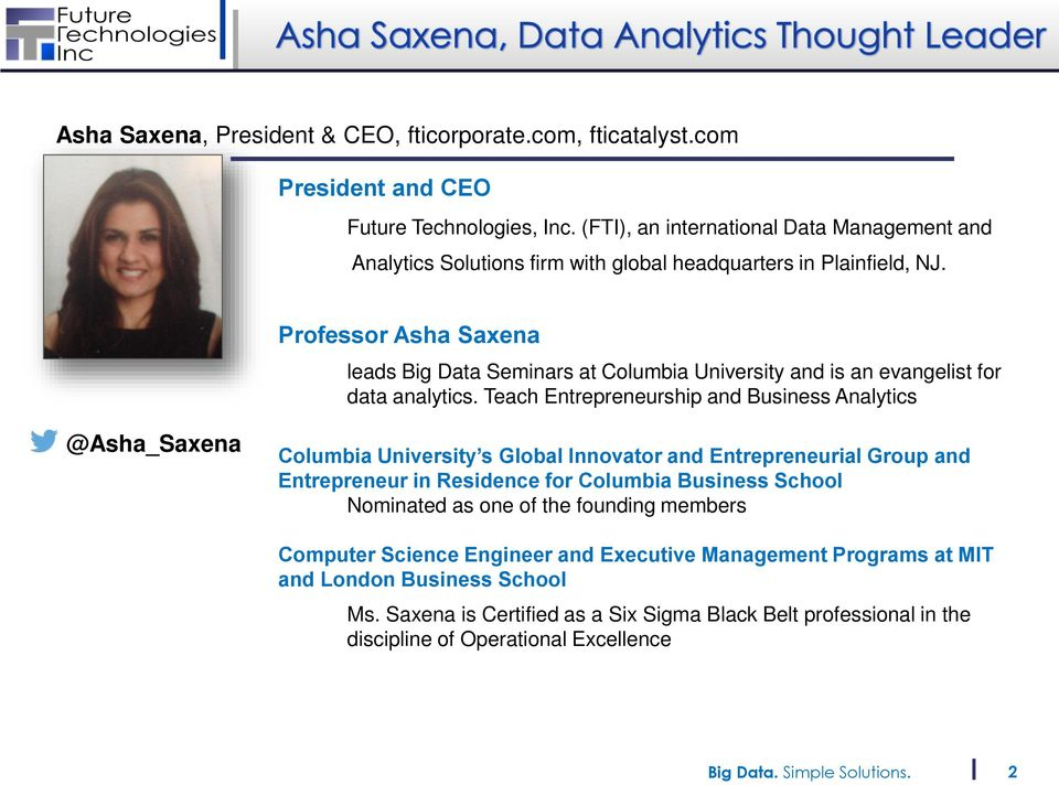 The Promise of Healthcare Analytics with FTI Catalyst  By