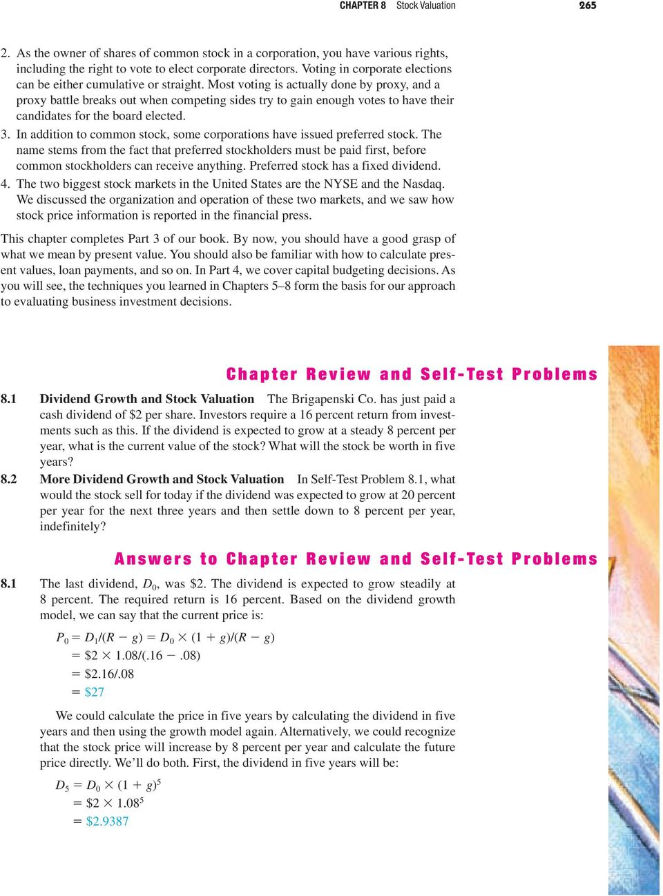 Chapter Review and Self-Test Problems - PDF