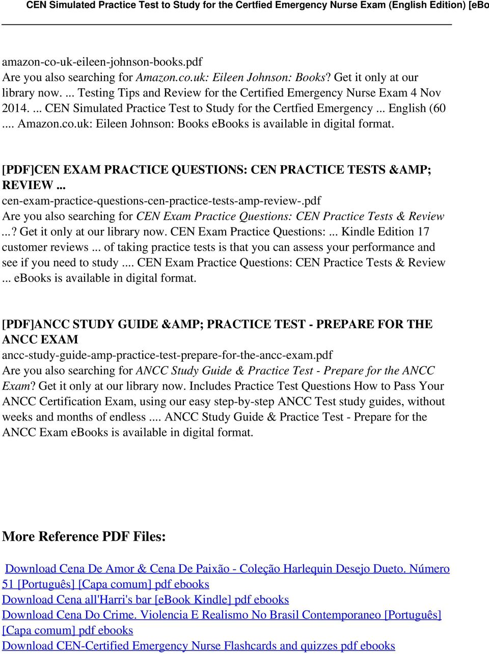 Cen study guide 2013 ebook array cen simulated practice test to study for the certfied emergency rh docplayer net fandeluxe Gallery
