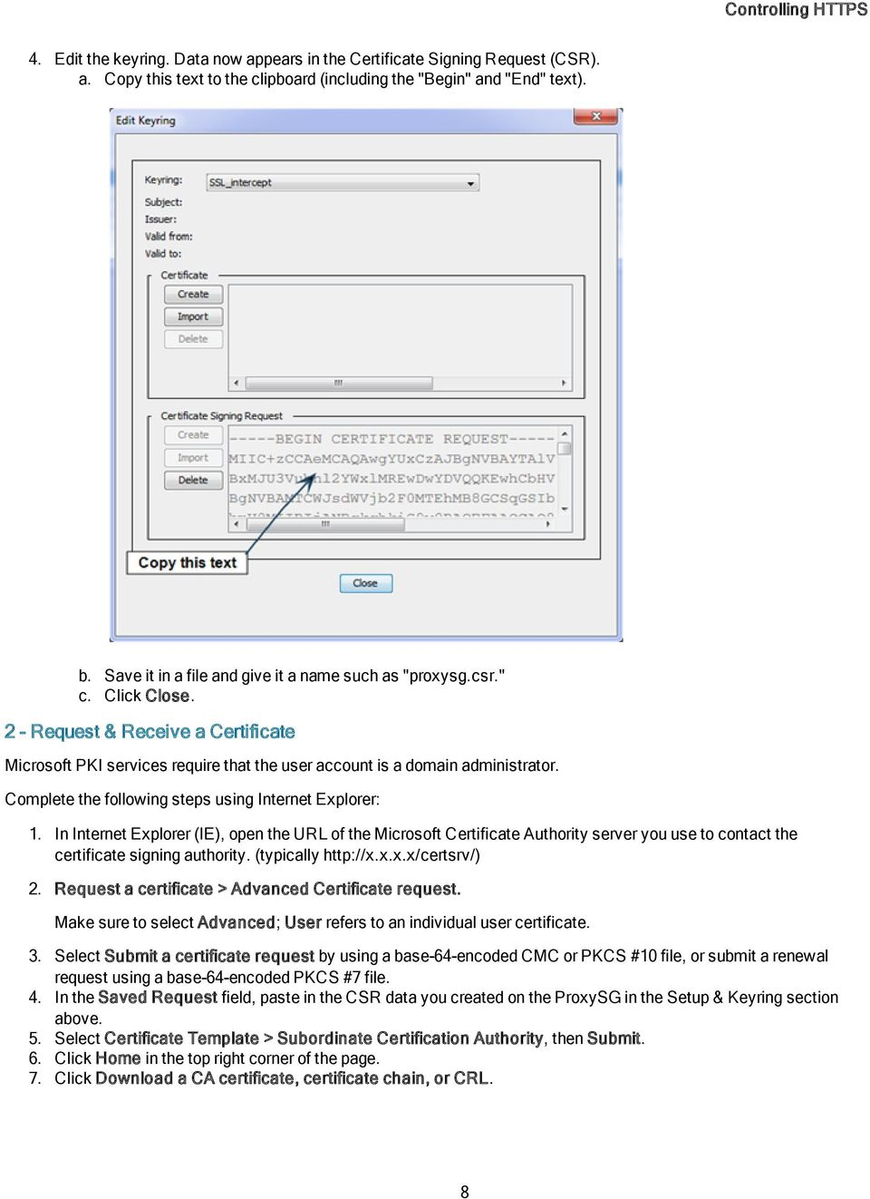 Blue Coat Security First Steps Solution for Controlling HTTPS - PDF