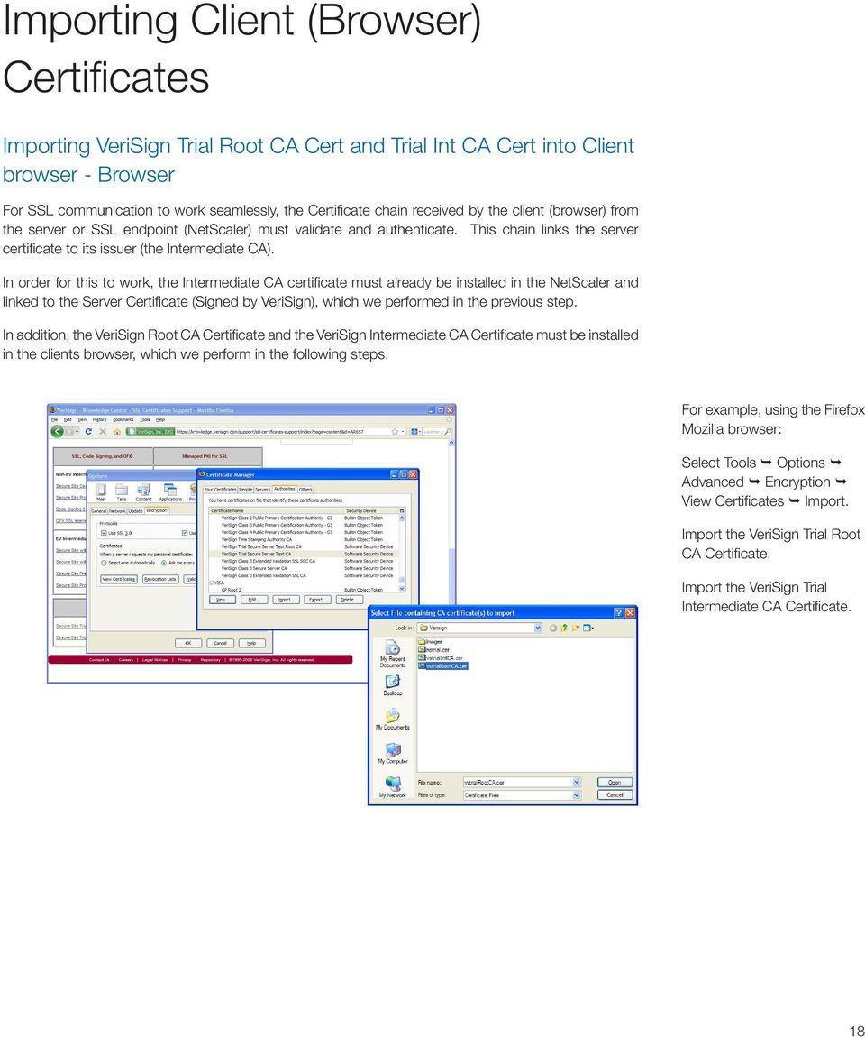 Deployment Guide Deployment Guide Verisign Certificate Authority