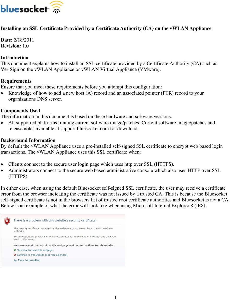 Installing An Ssl Certificate Provided By A Certificate Authority