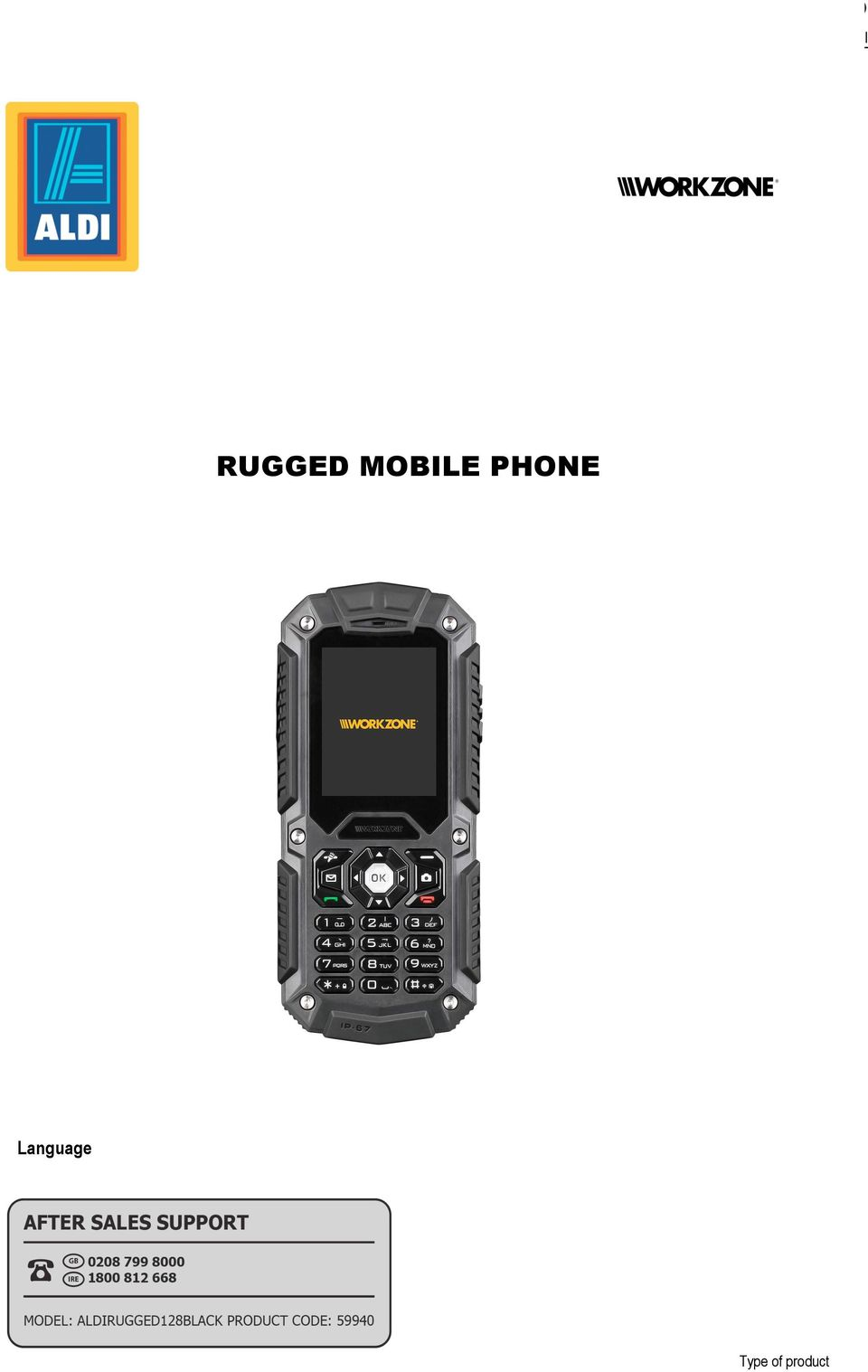 Optional The Rugged Phone Rugged Mobile Phone Language Type Of