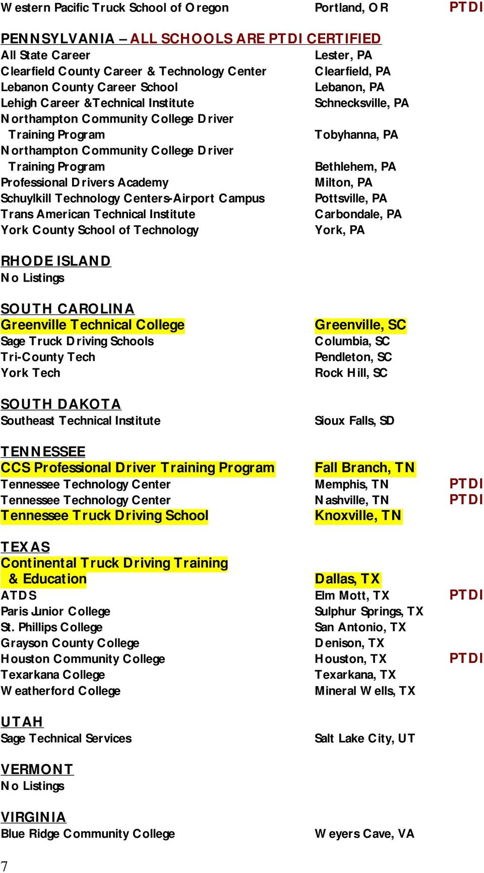 Cdl Truck Driving School Guide A List Of Recommended Cdl Truck