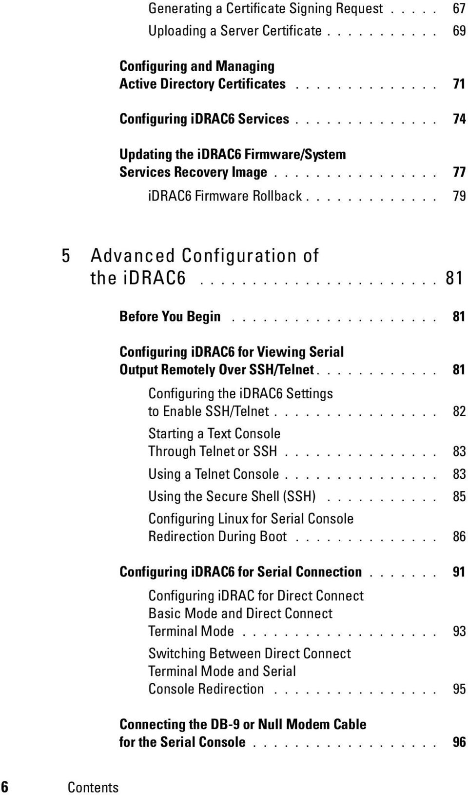 Integrated Dell Remote Access Controller 6 (idrac6) Version