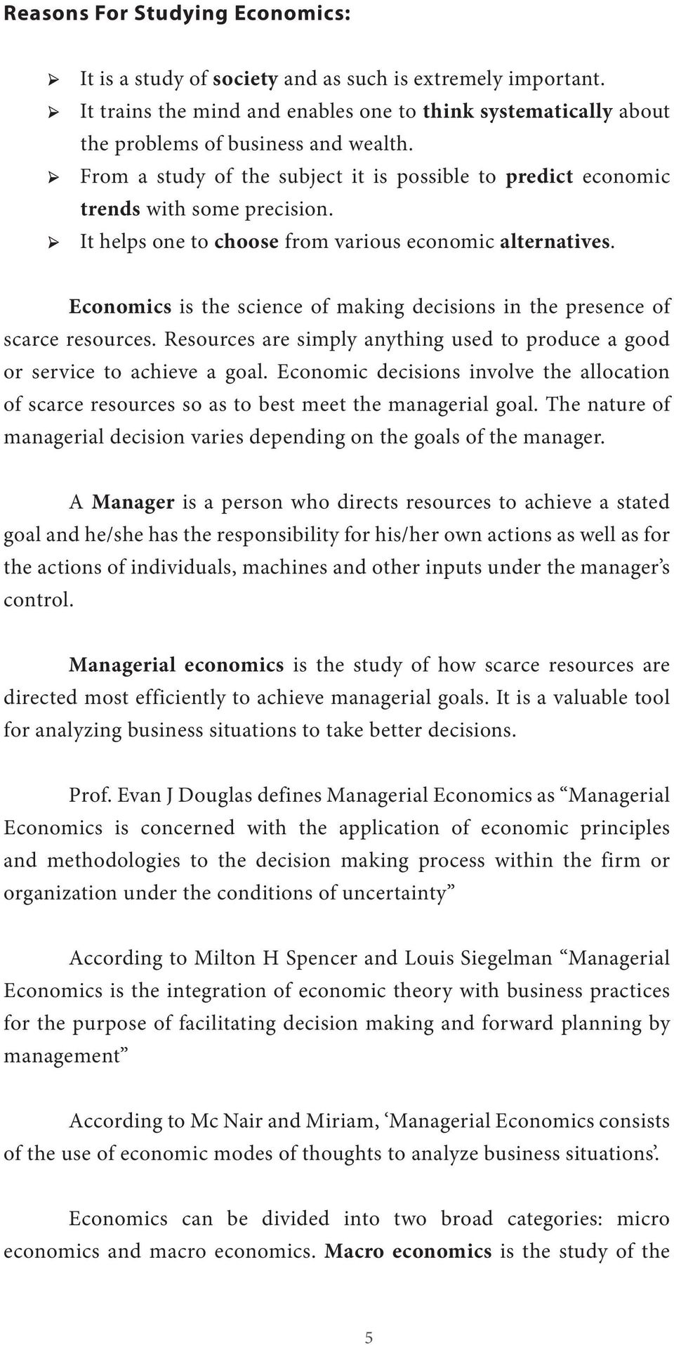 How to do well in managerial economics