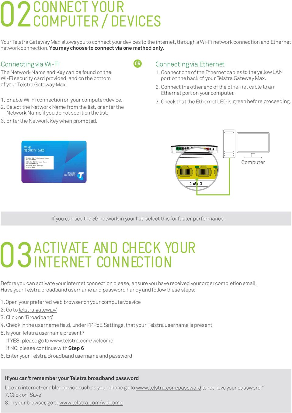 Get connected with your TELSTRA GATEWAY MAX  Quick start