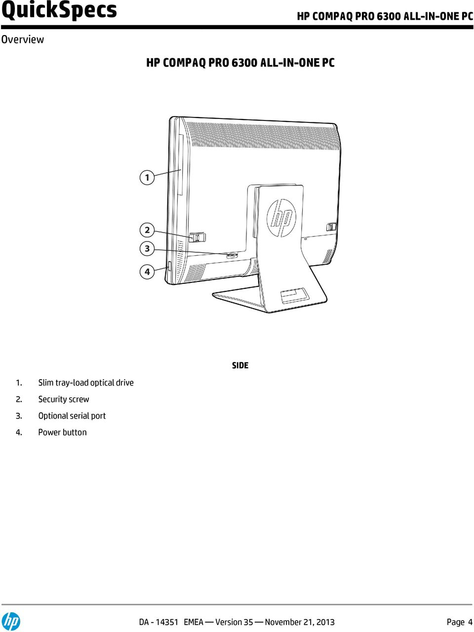 HP COMPAQ PRO 6300 ALL-IN-ONE PC FRONT - PDF