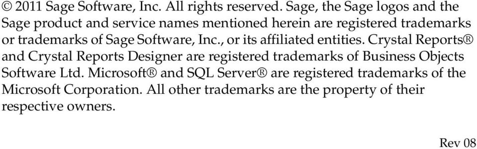of Sage Software, Inc., or its affiliated entities.