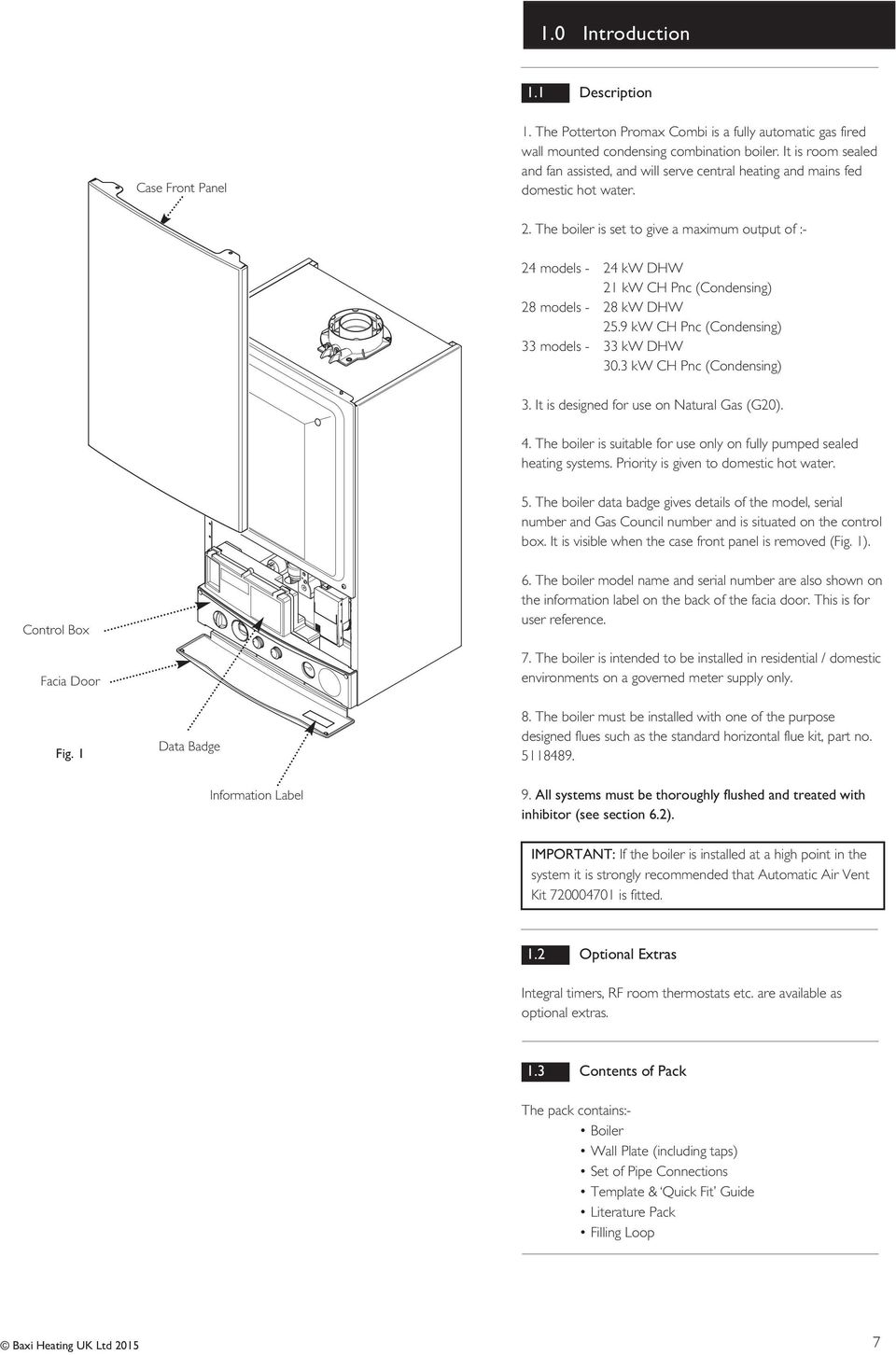 Installation and Service Manual  Promax Combi Condensing