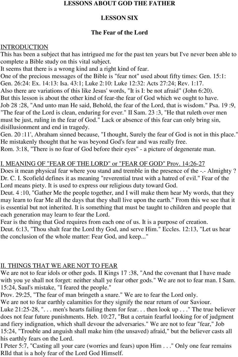 100 BIBLE LESSONS By Alban Douglas LESSON ONE  The Existence