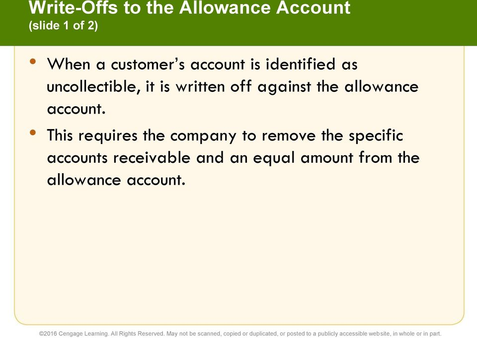the allowance account.