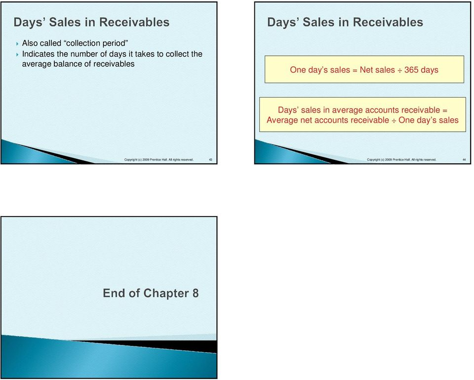 days sales in accounts receivable