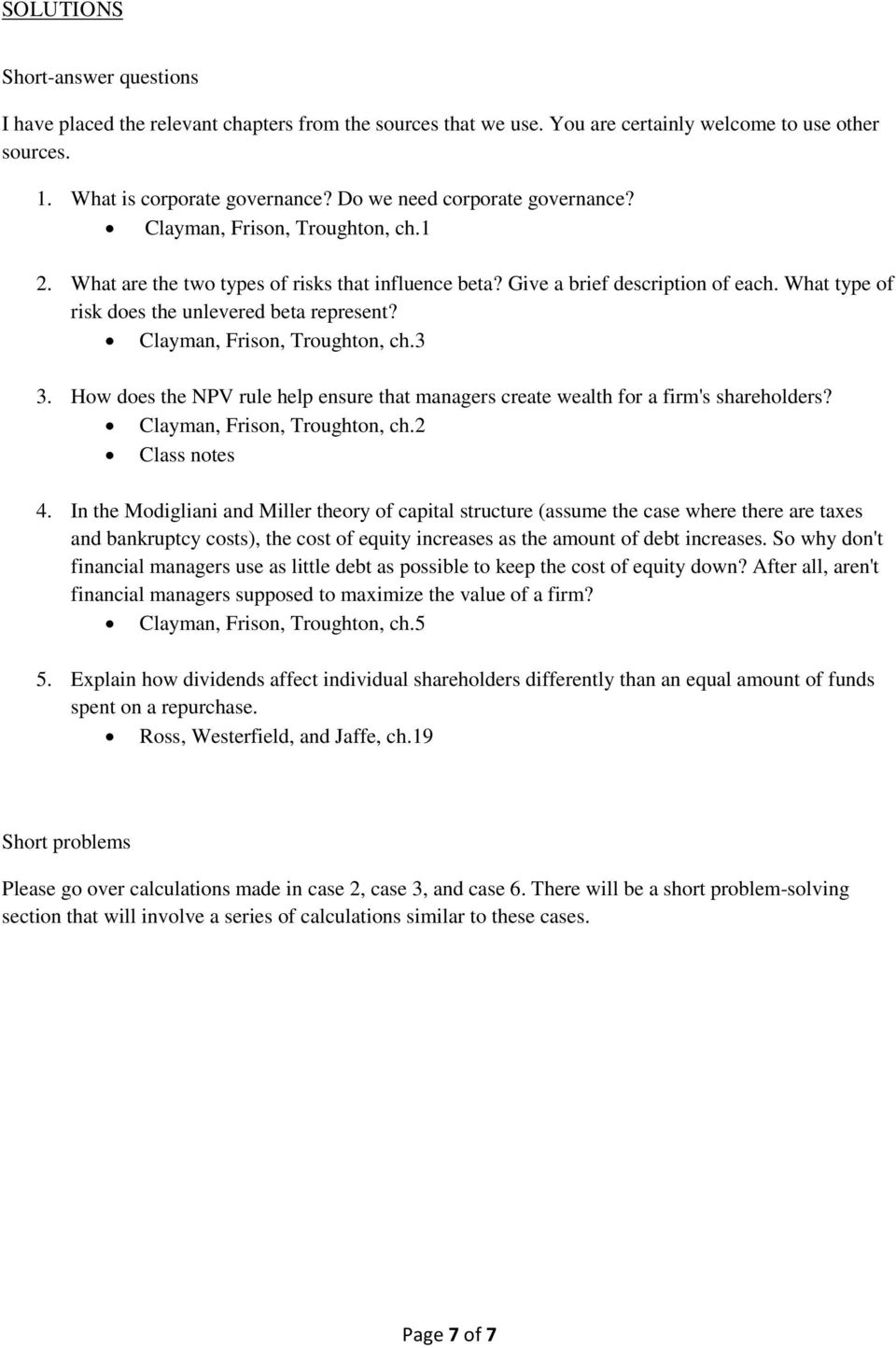 SOLUTIONS  Practice questions  Multiple Choice - PDF