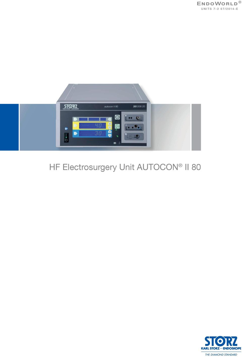 2 HF Electrosurgery Unit AUTOCON II 80 The AUTOCON II 80 is a compact and  high-performance HF electrosurgical unit which features a very attractive  ...