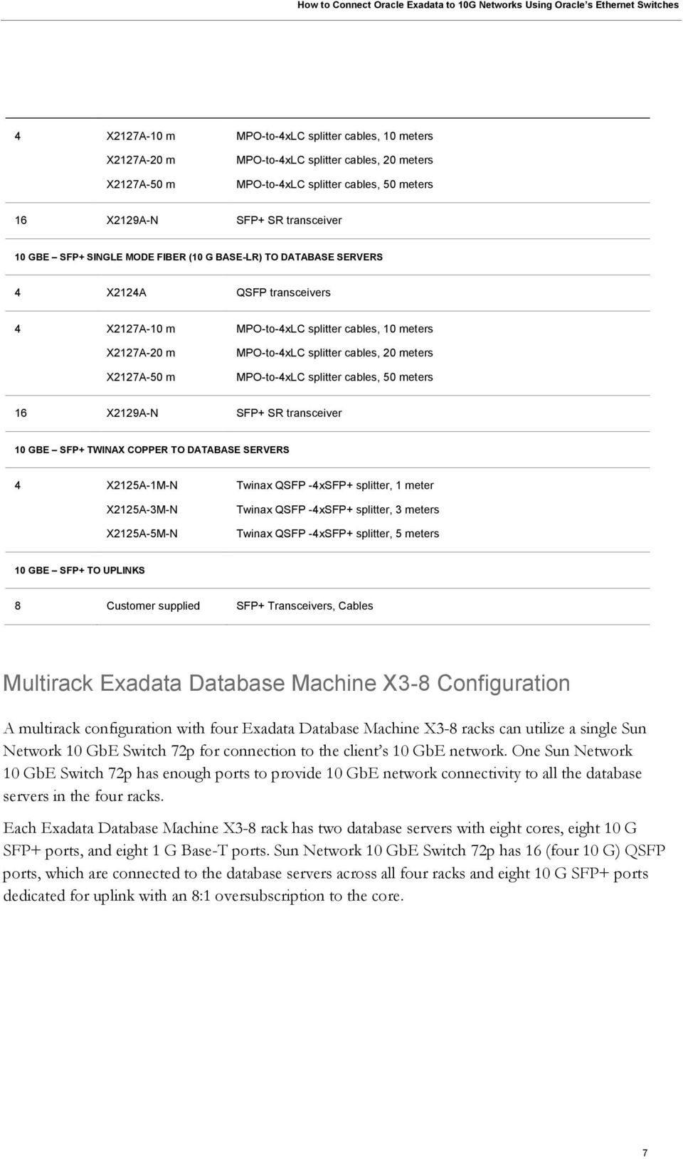 An Oracle White Paper October How to Connect Oracle Exadata to 10 G