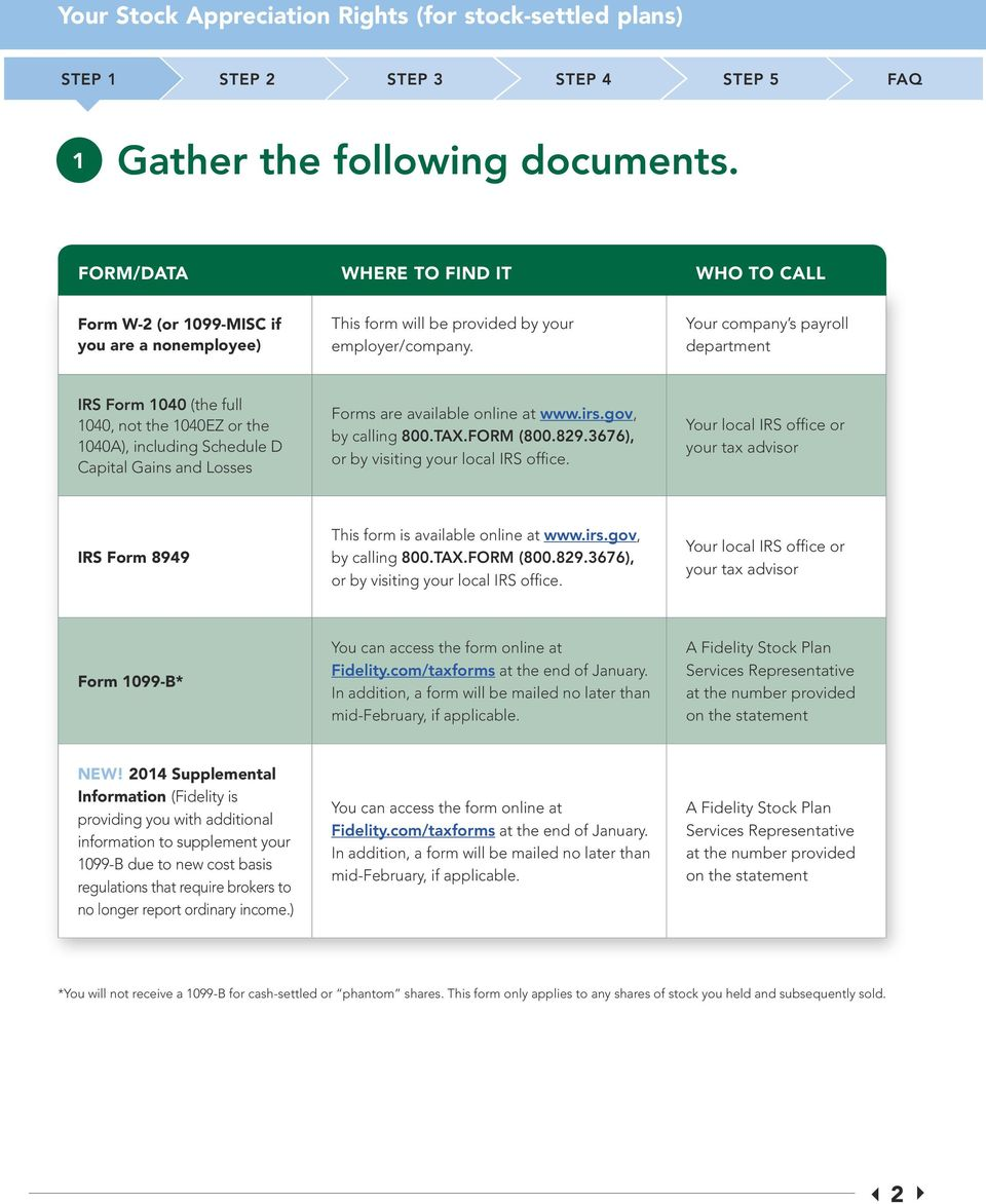 Determining your 2014 stock plan tax requirements a step-by-step ...