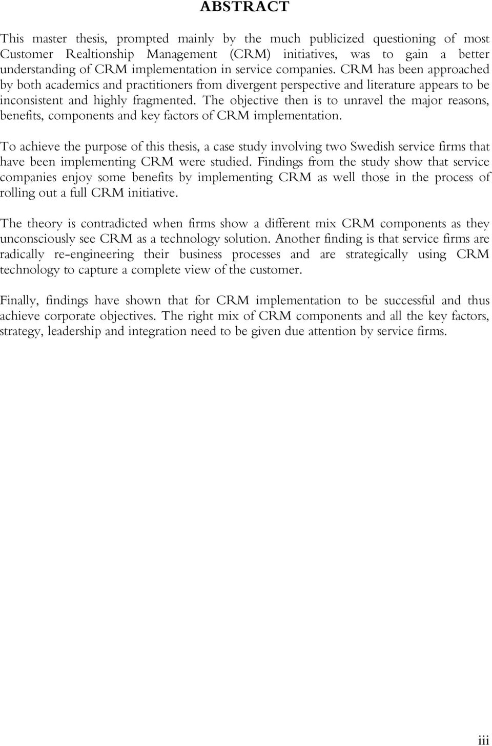 customer relationship management research paper pdf