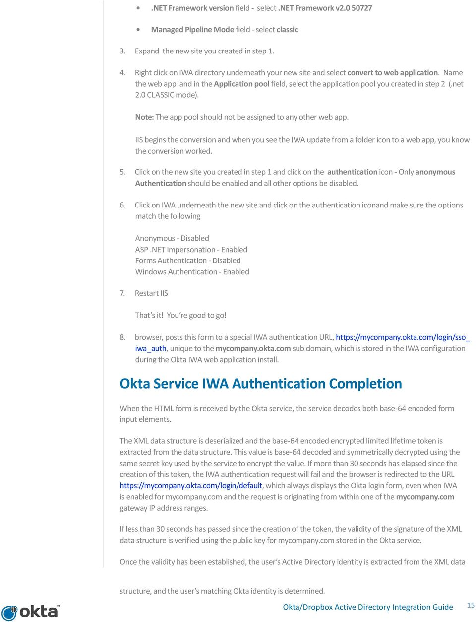 Okta/Dropbox Active Directory Integration Guide - PDF