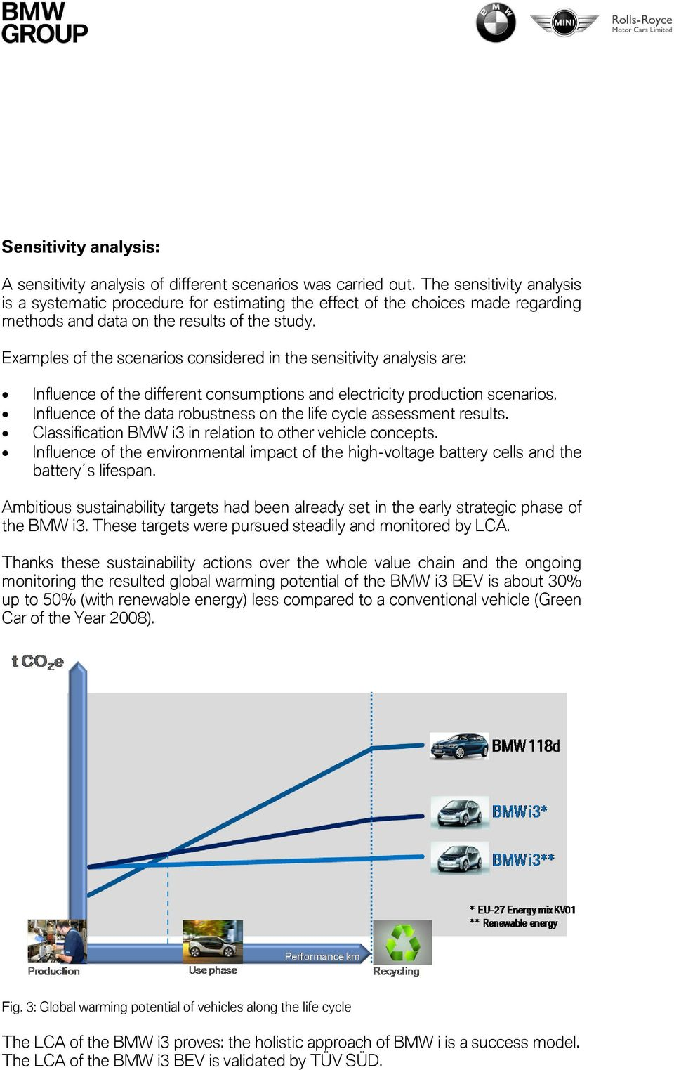 Environmental Certification Bmw I3 Pdf Ks3 Physics Electric Current And Potential Difference Revision 5 Examples Of The Scenarios Considered In Sensitivity Analysis Are Influence Different Consumptions