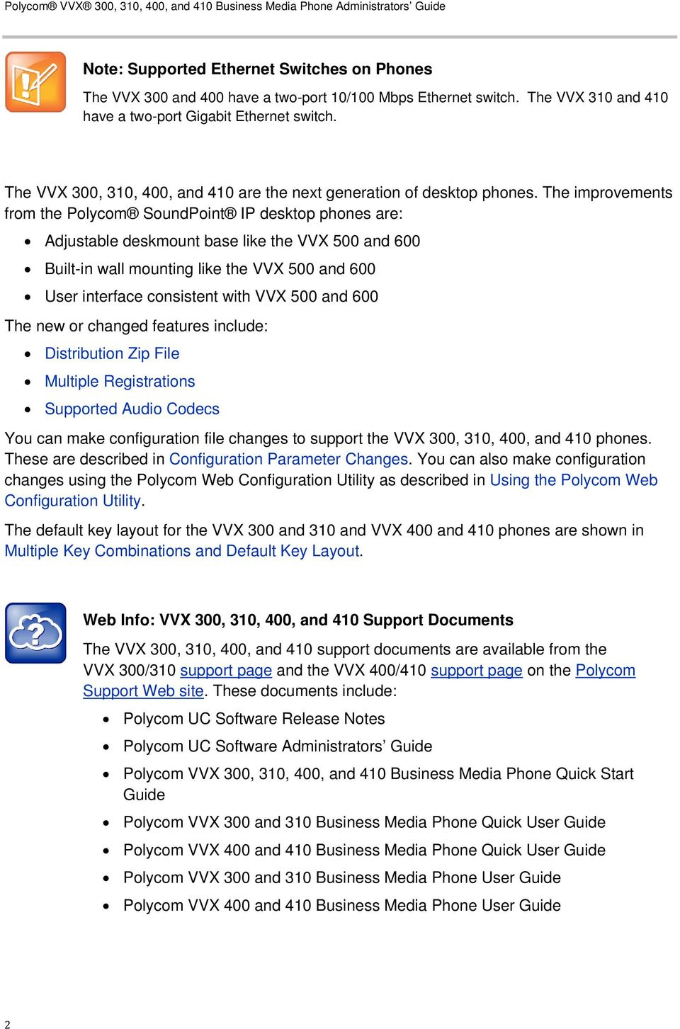 Polycom VVX 300, 310, 400 and 410 Business Media Phone - PDF