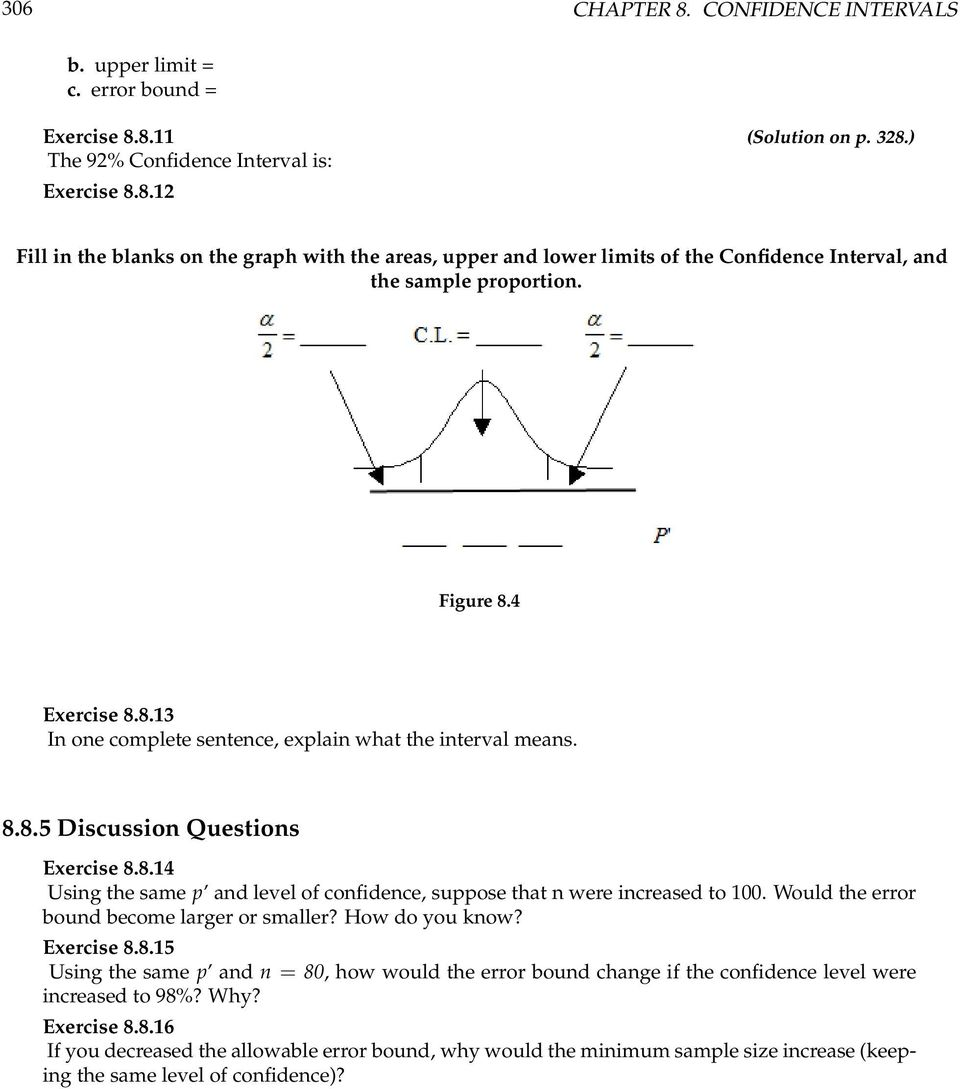 Would The Error Bound Become Larger Or Smaller How Do You Know Exercise 88