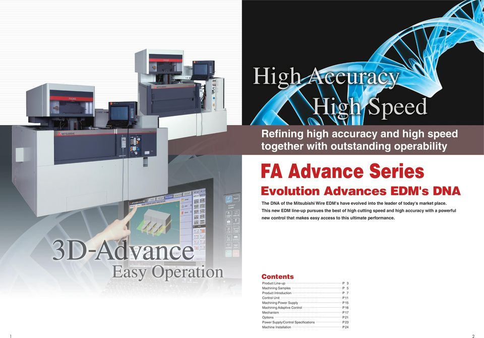 Wire-cut EDM SYSTEMS FA Advance Series  Advance Series