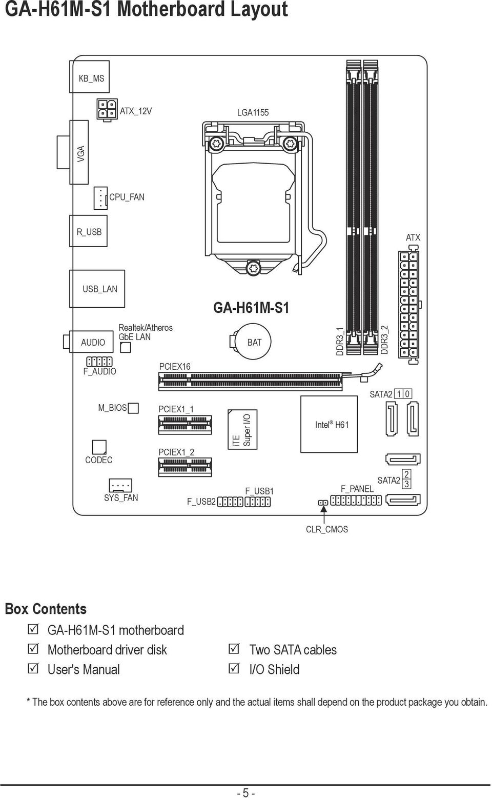 GA      H61M   S1 User s Manual Rev PDF