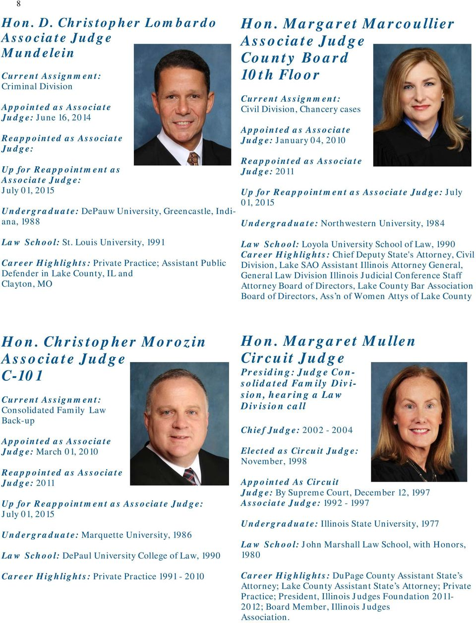 19th Judicial Circuit Court Profile Book Pdf Missouri Judges 2010 General Election November 2nd Louis University 1991 Career Highlights Private Practice Assistant Public Defender In Lake County