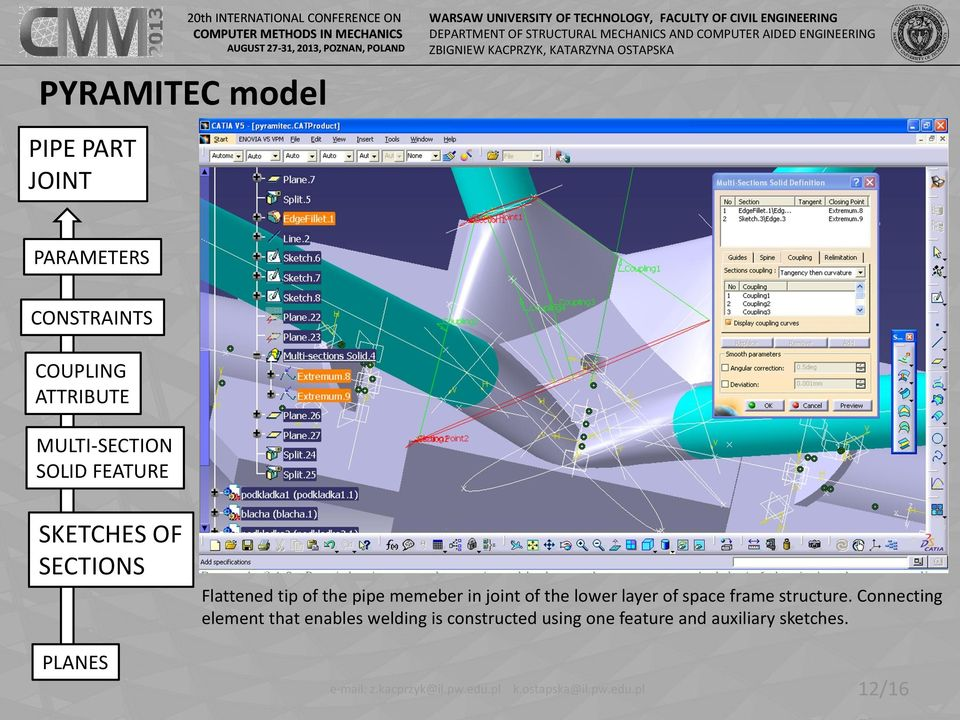 PARAMETRIC MODELING OF SPACE FRAME STRUCTURES - PDF