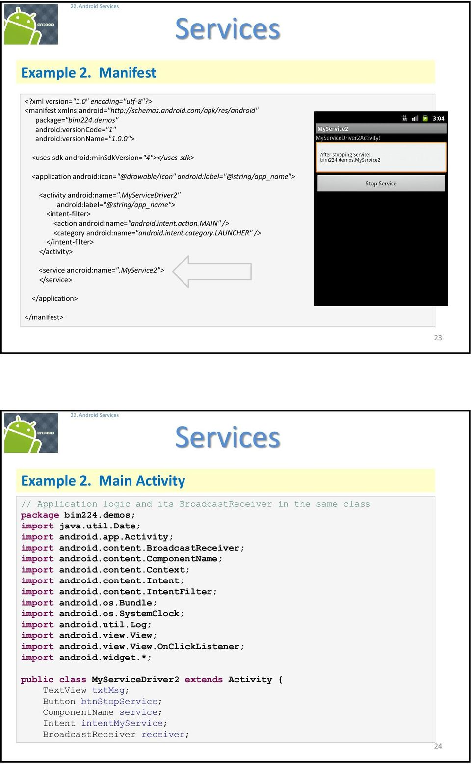 Android Services  Services - PDF