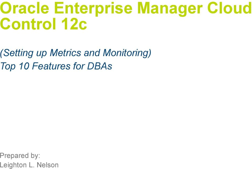 Oracle Enterprise Manager Cloud Control 12c Deep Dive Pdf