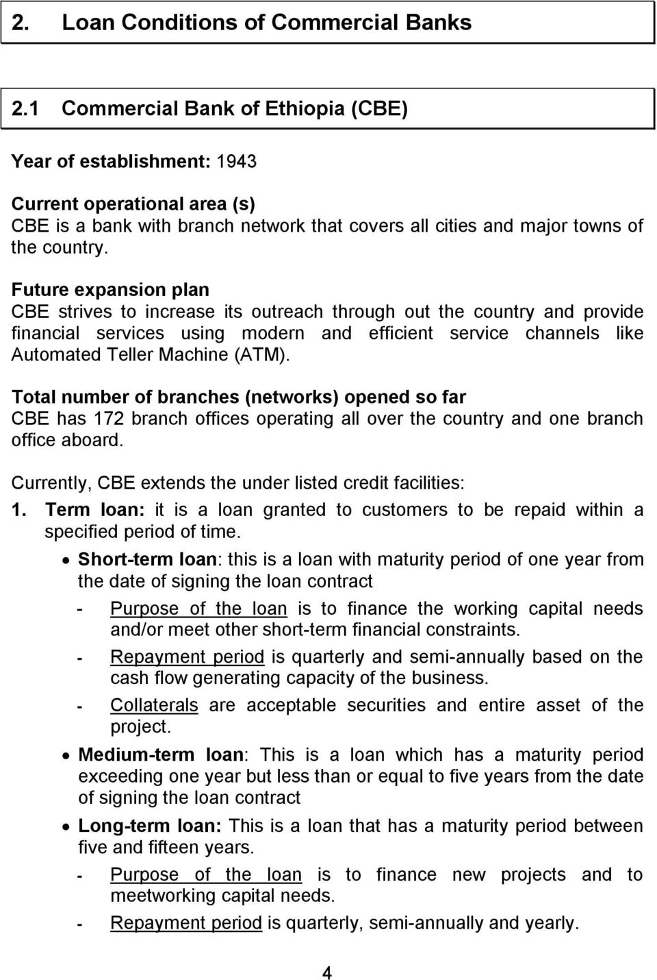 Conditions for obtaining credit in modern banking institutions