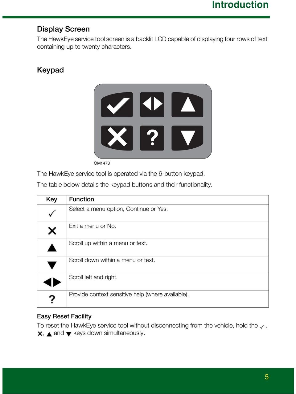 Hawkeye User Manual Your New Diagnostic Tool For Land Rover Current Sensing Relay Key Function Select A Menu Option Continue Or Yes Exit No