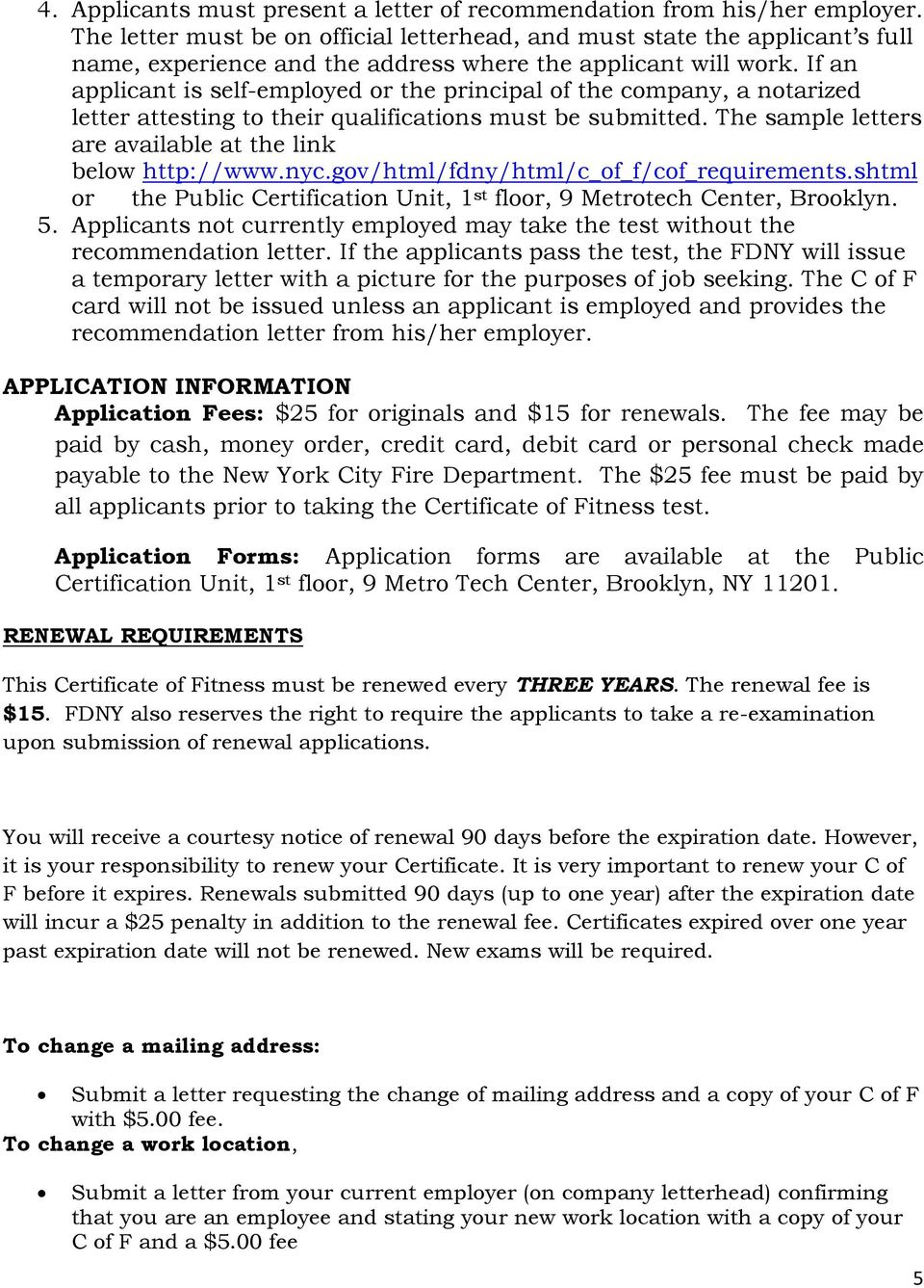 Fire Department City Of New York Study Material For The Certificate