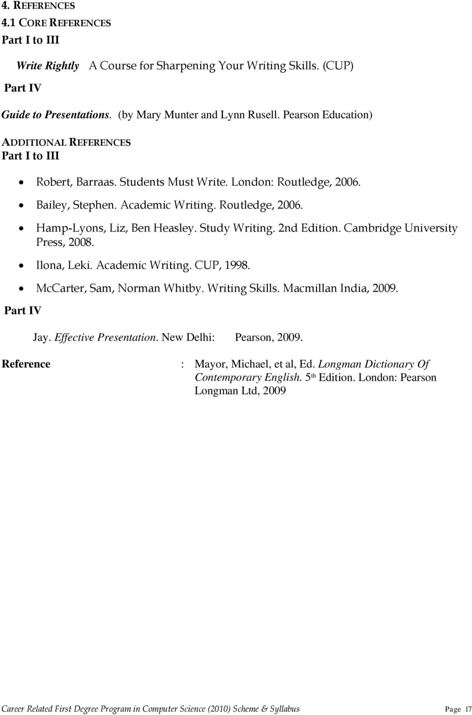 Career related first degree programme in computer science scheme study writing 2nd edition cambridge university press 2008 ilona leki fandeluxe Image collections