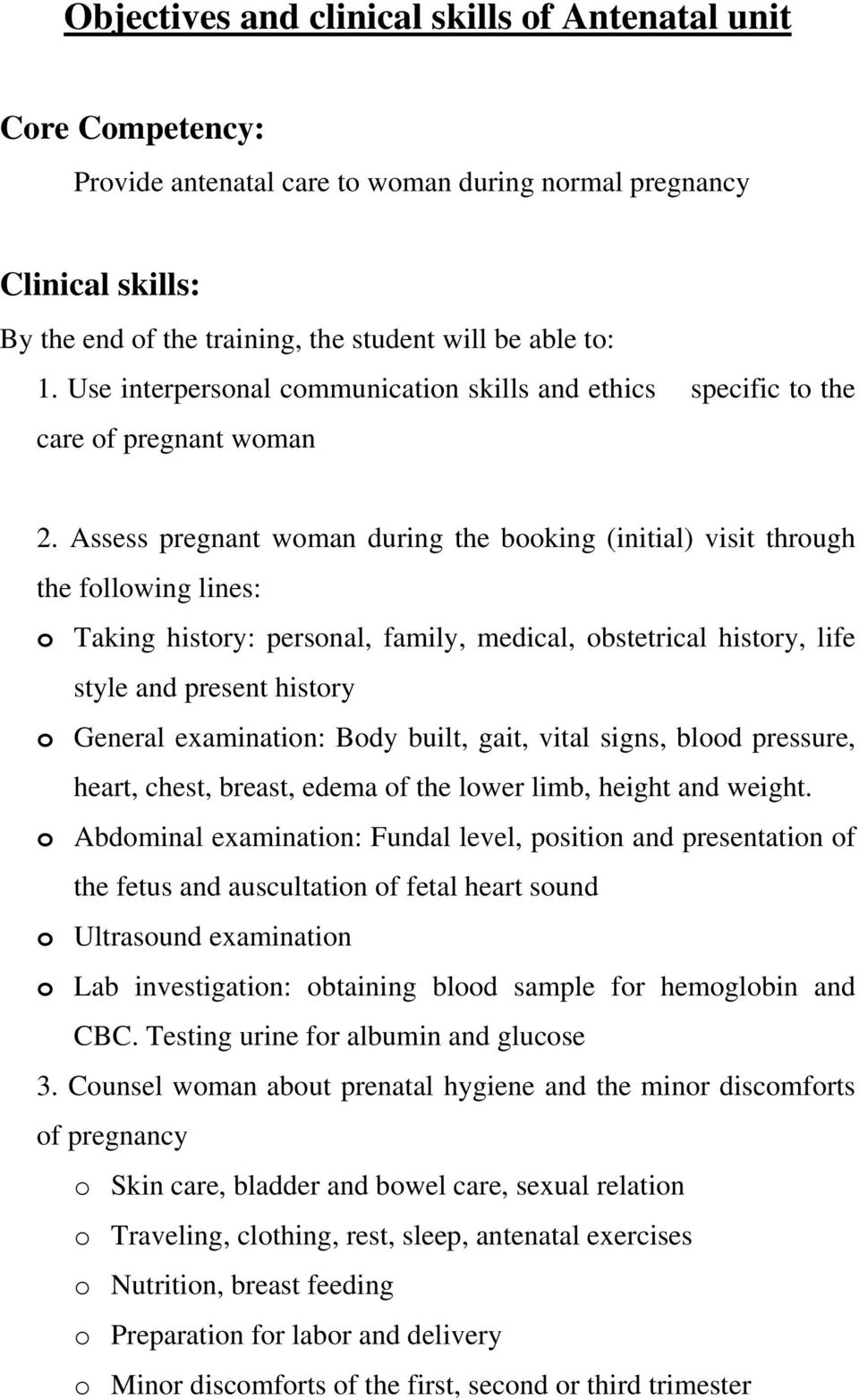 General And Objectives Clinical Skills For Nursing Students In